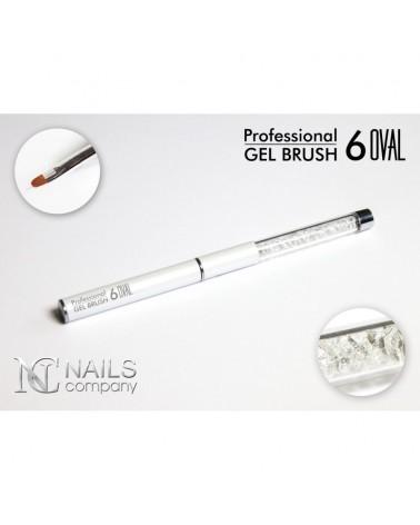 Gel Brush Oval N°6 Silver